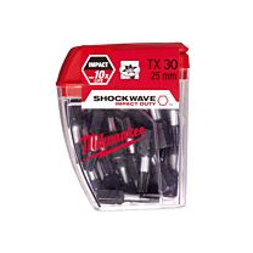 Milwaukee Shockwave schroefbit TX 30, lengte 25 mm (25 stuks)